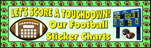 Football Sticker Charts Bulletin Board Display Banner