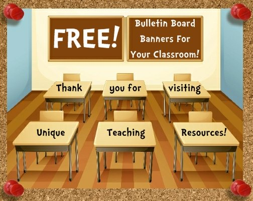 Free Bulletin Board Display Banners For Classrooms
