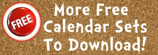 Free Calendar Bulletin Board Display Sets For Teachers To Download