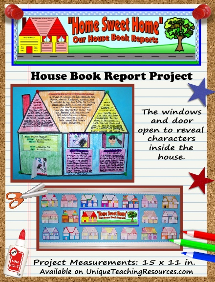 Fun Book Report Project Ideas - House Templates