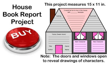 Creative Book Report Project Ideas:  Character House Templates