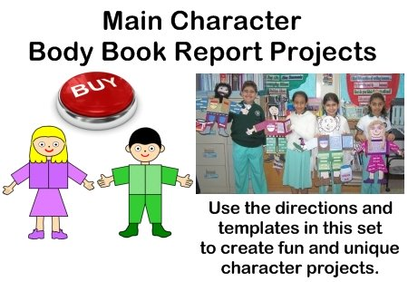 main character book report project templates