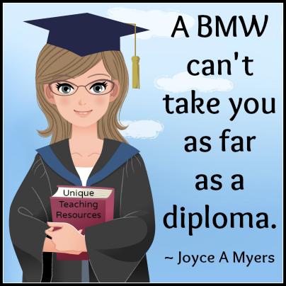 A BMW can't take you as far as a diploma.