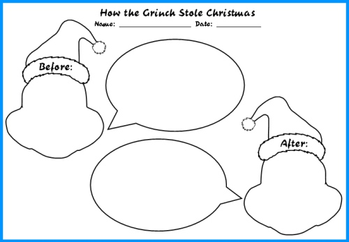 How the Grinch Stole Christmas Character Description Graphic Organizers