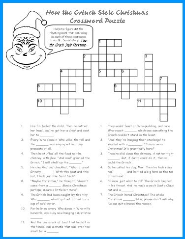 , students complete a mixed up letters puzzle based on Dr. Seuss ...