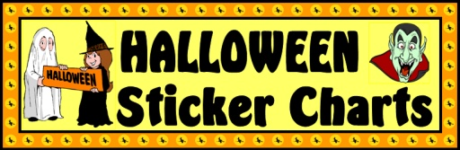Halloween Sticker Charts and Templates for Students