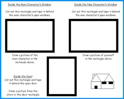 House Book Report Window and Door Templates