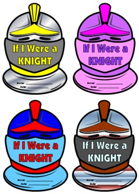 If I Were a Knight Helmet Creative Writing Templates and Worksheets Lesson Plans