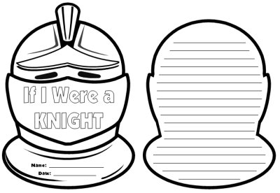 If I Were a Medieval Knight Creative Writing Helmet Templates