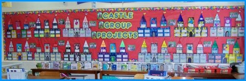 Medieval Castle Book Report Projects Classroom Bulletin Board Display