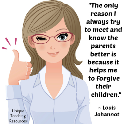Funny teacher quote about parents.