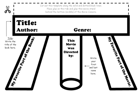 Writing a Movie Review Book Report Templates and Graphic Organizers