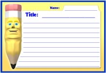 Write All About It Pencil Printable Worksheets for Language Arts