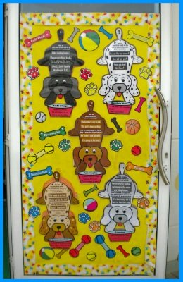 Punctuation Puppy Grammar Bulletin Board Display