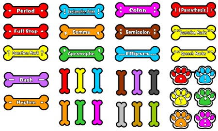 Punctuation Marks Bulletin Board Display Accent Pieces