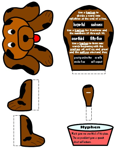 Hyphen Punctuation Mark Bulletin Board Display Grammar Resources Set