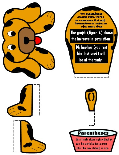Parenthesis Punctuation Mark Bulletin Board Display Grammar Resources Set