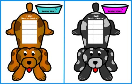 Puppy Dog Sticker Charts and Templates