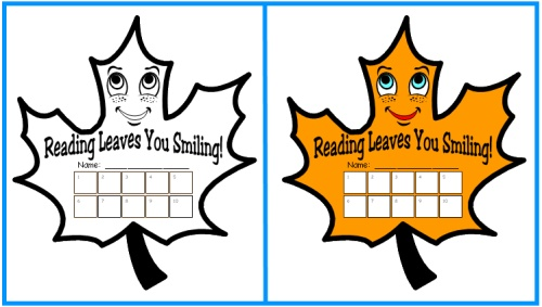 Sticker Charts and Templates for Fall, Autumn, and Thanksgiving