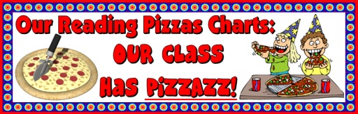 Reading Pizza Shaped Sticker Charts and Templates