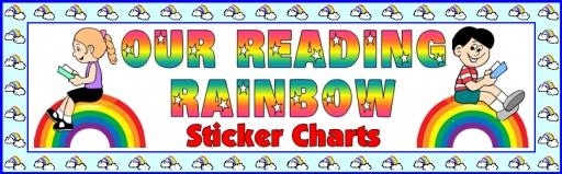 Free Reading Rainbow Bulletin Board Display Banner