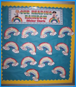 Reading Rainbow Elementary Student Sticker Chart