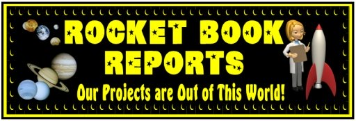 Rocket Book Report Project Bulletin Board Display Banner