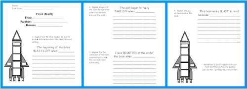 Rocket Book Report Project Writing Worksheets
