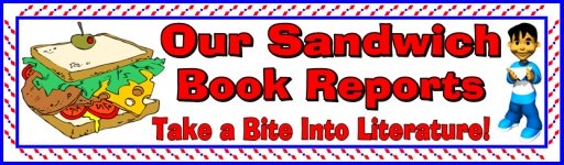 Sandwich Book Report Projects Bulletin Board Display Banner For Elementary Student Projects