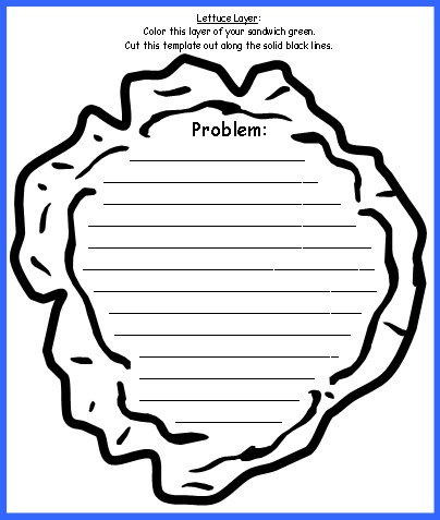 Sandwich Book Report Projects Lettuce Templates and Worksheets for Problem