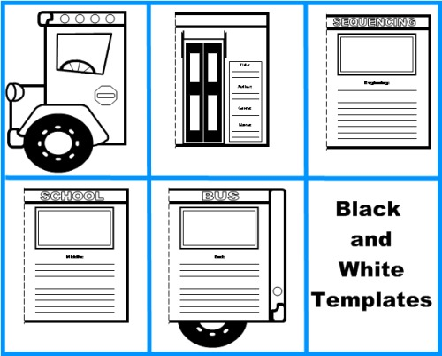 school bus book report project templates worksheets