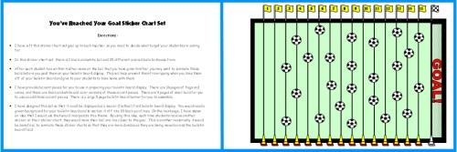Example of Soccer Sticker Chart Soccer Field Bulletin Board Display Idea