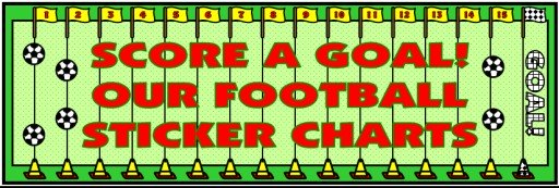 Football Sticker Charts Bulletin Board Display Banner