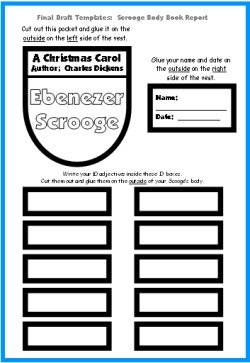 A Christmas Carol Project:  Scrooge Final Draft Templates and Worksheets