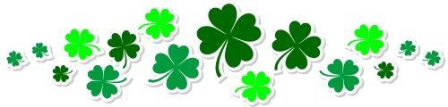 St. Patrick's Day Shamrock Divider
