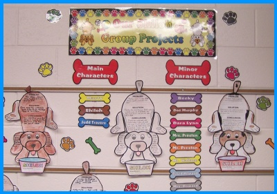 Shiloh Elementary Classroom Bulletin Board Display of Student Projects