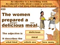 Adjectives Grammar Powerpoint for Thanksgiving