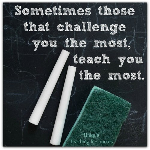 Sometimes those that challenge you the most, teach you the most.