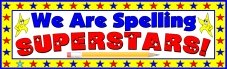 Free Spelling Superstars Bulletin Board Display Banner