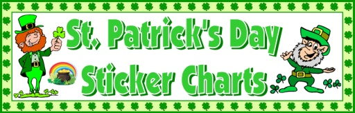 St. Patrick's Day Sticker Charts and Incentive Templates