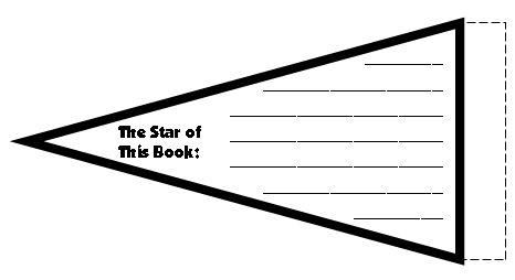 Star Shaped Templates for Elementary Book Report Projects