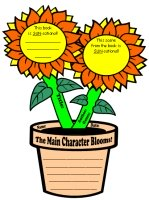Sunflower Book Report Project Templates