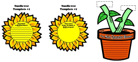 Spring Flower Book Report Projects and Templates and Graphic Organizers