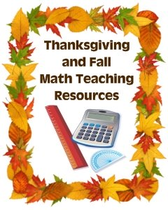 Thanksgiving Math Teaching Resources and Activities for Fall