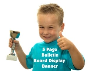 Free Trophy Book Report Bulletin Board Display Banner