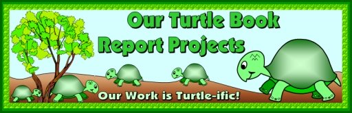 Turtle Book Report Project Bulletin Board Display Ideas and Examples