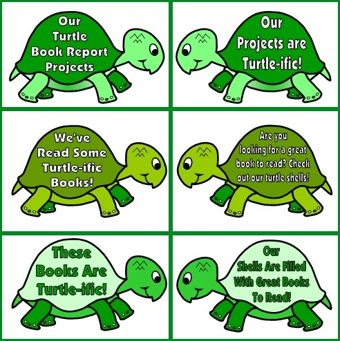 Free Turtle Templates for Classroom Bulletin Board Display