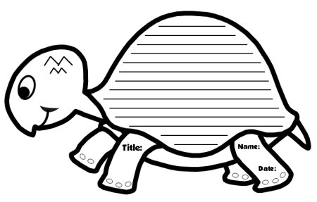 Turtle Themed Creative Writing Worksheets