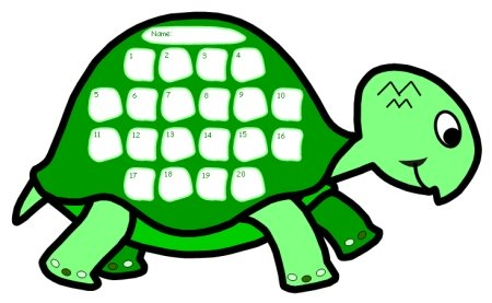 Turtle Sticker Chart Templates