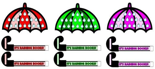 It's Raining Books April Reading Sticker Chart Set